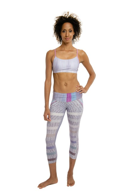 Item - Purple Print Beachcomber 7/8 Activewear Bottoms Size 0 (XS, 25)