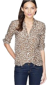 J.Crew Button Down Shirt leopard print