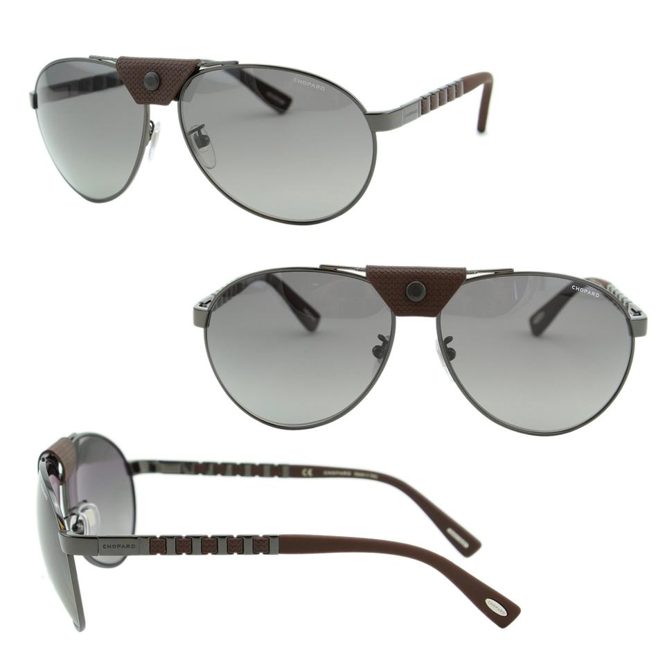 ab03634ff6c Chopard New SCH-B33 Metal   Rubber Nosepiece Polarized Aviator Sunglasses  ...