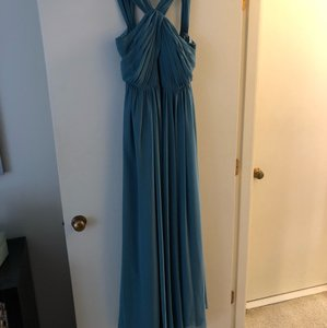 Jenny Yoo Turkish Blue Chiffon Jacqueline Formal Bridesmaid/Mob Dress Size 6 (S)