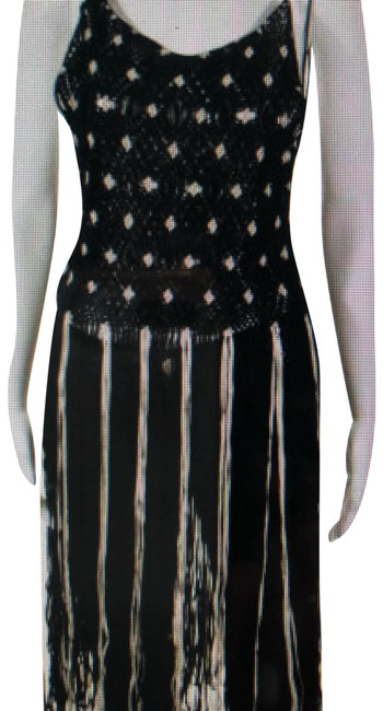 Item - Black and White Fringe Tank Top/Cami Size OS (one size)