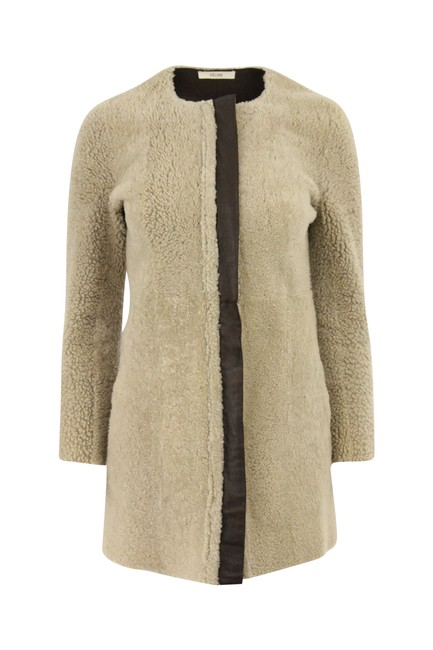 Item - Brown Reversible Leather & Shearling Coat Size 0 (XS)