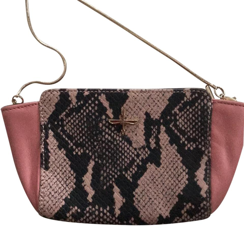 Pour La Victoire Cute Pink Snake Leather Cross Body Bag 66 Off Retail