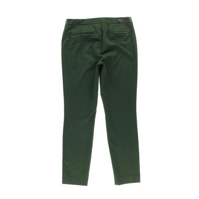 DKNY Faux Leather Straight Pants Green Image 1