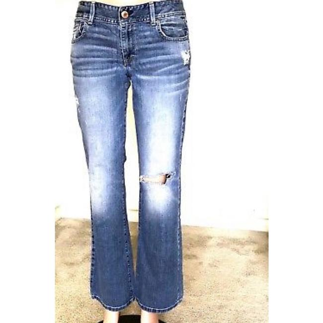 American Eagle Outfitters Straight Leg Jeans-Distressed Image 1