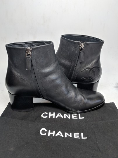 Chanel Ankle Black Boots Image 1