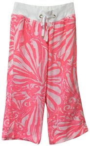 Lilly Pulitzer Capri/Cropped Pants neon pink white