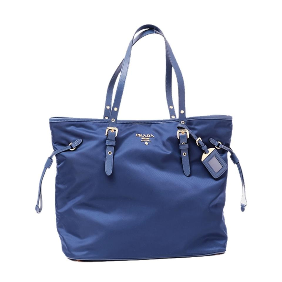 596f625604ba55 Prada Shopping Tessuto Saffiano Royal Nylon Handbag 1bg997 Blue ...
