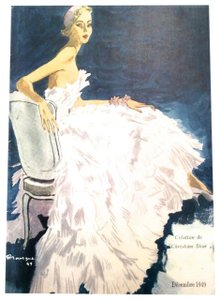 Dior Christian Dior Vintage Ad Print - Late 1940's