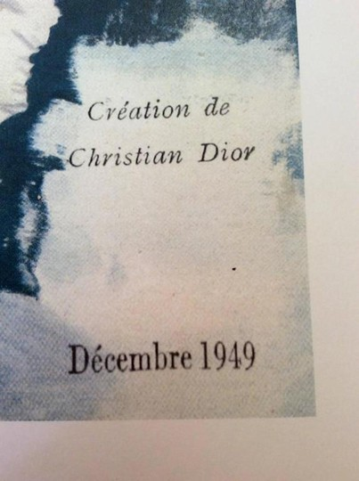 Dior Christian Dior Vintage Ad Print - Late 1940's Image 1