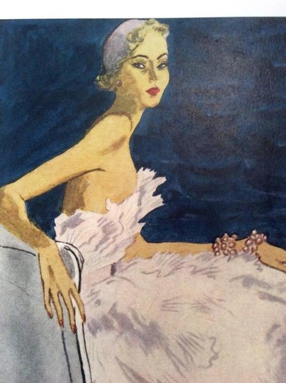 Dior Christian Dior Vintage Ad Print - Late 1940's Image 2