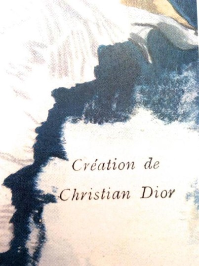 Dior Christian Dior Vintage Ad Print - Late 1940's Image 3