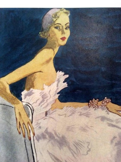 Dior Christian Dior Vintage Ad Print - Late 1940's Image 4