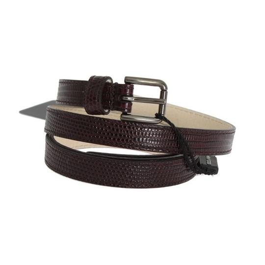 Dolce&Gabbana D10367-3 Women's Bordeaux Leather Silver Buckle Belt(85 cm /34 Inches) Image 1