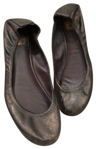 Tory Burch Bronze Brown Flats