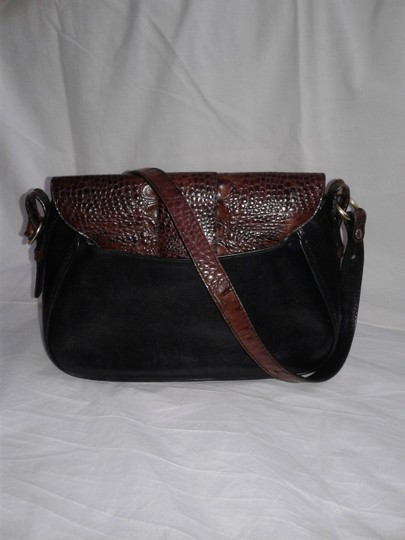 Brahmin Leather Tuscan Embossed Crocodile Shoulder Cross Body Bag Image 1
