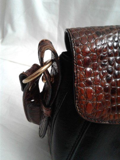 Brahmin Leather Tuscan Embossed Crocodile Shoulder Cross Body Bag Image 7