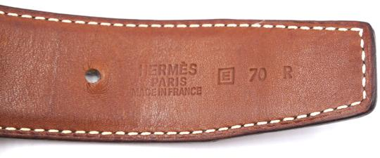Hermès 32Mm classic silver H Reversible leather Belt Size 70 Image 2