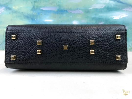 Valentino Leather My Rockstud Satchel in Black Image 5
