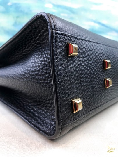 Valentino Leather My Rockstud Satchel in Black Image 6