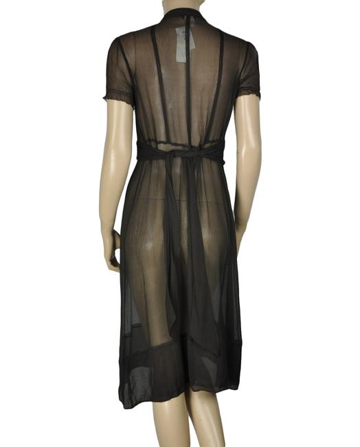 J.Crew Sheer Silk Long Short Sleeve Dress Image 1