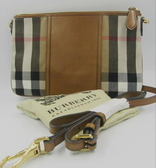 Burberry Nova Check Wallet Wallet Leather Brown Multi Clutch Image 1