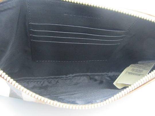 Burberry Nova Check Wallet Wallet Leather Brown Multi Clutch Image 4