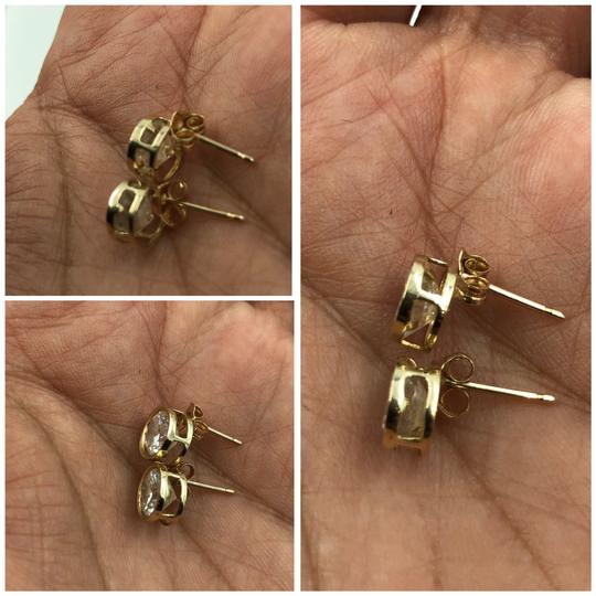 14KT Gold 14KT Yellow Gold Round CZ Stud Earrings Image 3