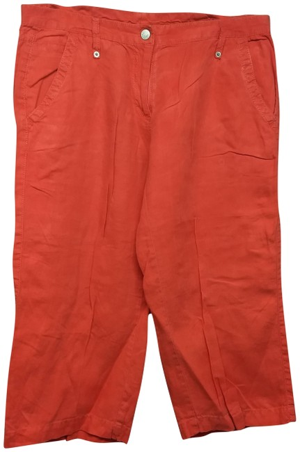 Preload https://img-static.tradesy.com/item/24706703/united-colors-of-benetton-orange-linen-cropped-pants-capris-size-14-l-34-0-1-650-650.jpg
