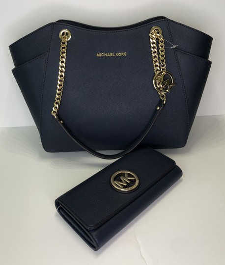Michael Kors Chain Tote Leather Matching Set Shoulder Bag Image 1