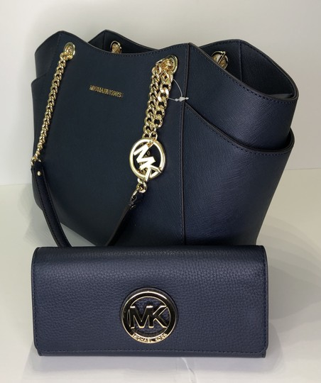 Michael Kors Chain Tote Leather Matching Set Shoulder Bag Image 2