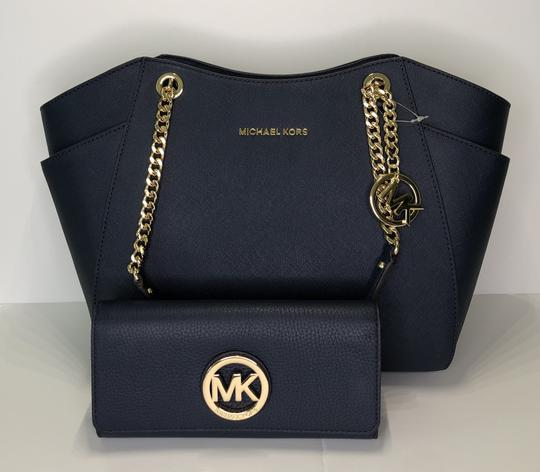 Michael Kors Chain Tote Leather Matching Set Shoulder Bag Image 9