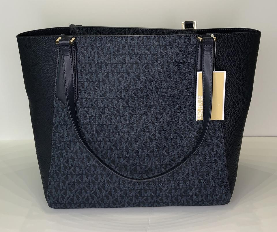 6da1da24d7ea Michael Kors Matching Set Shoulder Messenger Crossbody Monogram Satchel in  Signature MK Admiral/Navy Image. 123456