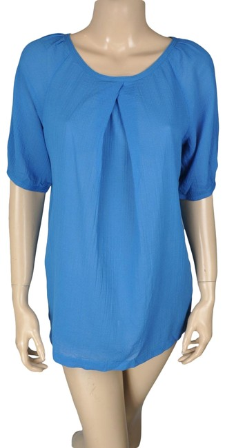 Preload https://img-static.tradesy.com/item/24706824/gap-blue-cotton-shirt-blouse-size-6-s-0-1-650-650.jpg