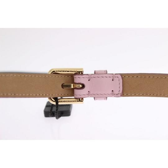 Dolce&Gabbana D10341-2 Women's Pink Leather Gold Heart Mamma Belt(80 cm / 32 Inches) Image 3