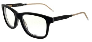 Tommy Hilfiger TH1353-KOC-51 Square Men's Black Frame Clear Lens Eyeglasses NWT