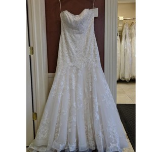 Maggie Sottero Ivory Lace Aretha By Traditional Wedding Dress Size 20 (Plus 1x)