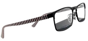 Tommy Hilfiger TH1529-807-56 Rectangle Men's Black Frame Clear Lens Eyeglasses