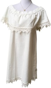Diane Gilman short dress Ivory on Tradesy
