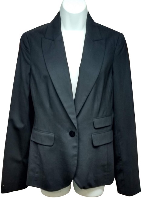 Preload https://img-static.tradesy.com/item/24706990/kenneth-cole-black-stretch-wool-blend-jacket-blazer-size-8-m-0-3-650-650.jpg