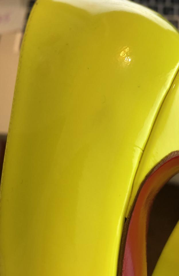 0f448532228 Christian Louboutin Green Yellow Pigalle 120 Patent Neon Pumps Size EU 38  (Approx. US 8) Regular (M, B) 59% off retail