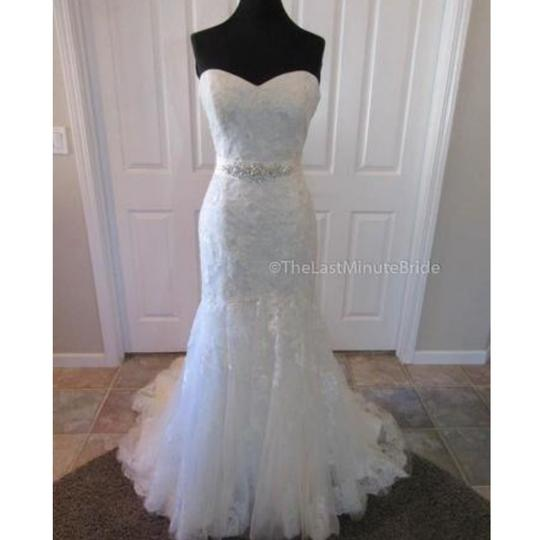 Maggie Sottero Ivory Over Pearl Rose Lace Ascher By Traditional Wedding Dress Size 10 (M) Image 0