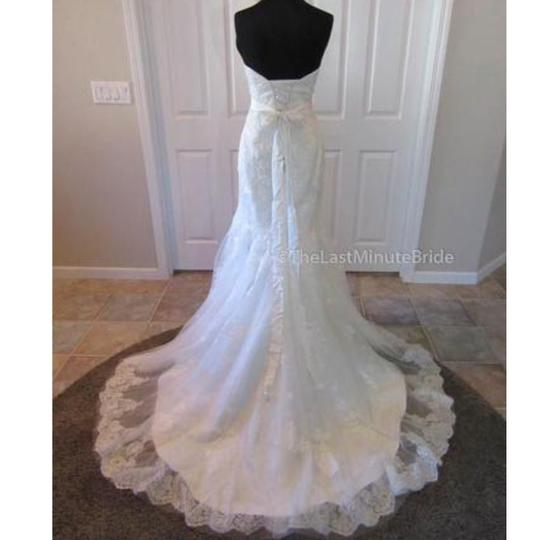 Maggie Sottero Ivory Over Pearl Rose Lace Ascher By Traditional Wedding Dress Size 10 (M) Image 2