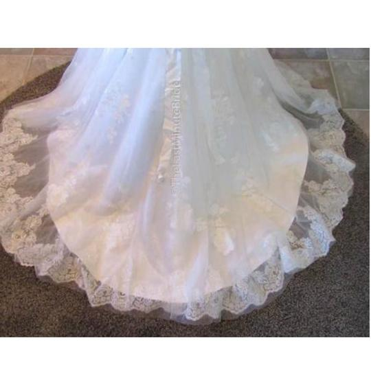 Maggie Sottero Ivory Over Pearl Rose Lace Ascher By Traditional Wedding Dress Size 10 (M) Image 3