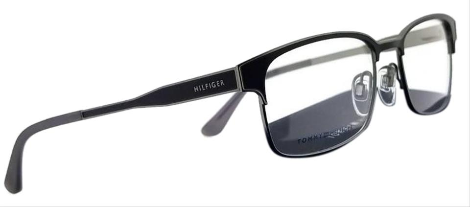 3ab683ad9 Tommy Hilfiger Th1357-p5q-53 Rectangle Men's Black Frame Clear Lens  Eyeglasses