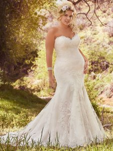 Maggie Sottero White Lace Cadence By Traditional Wedding Dress Size 18 (XL, Plus 0x)