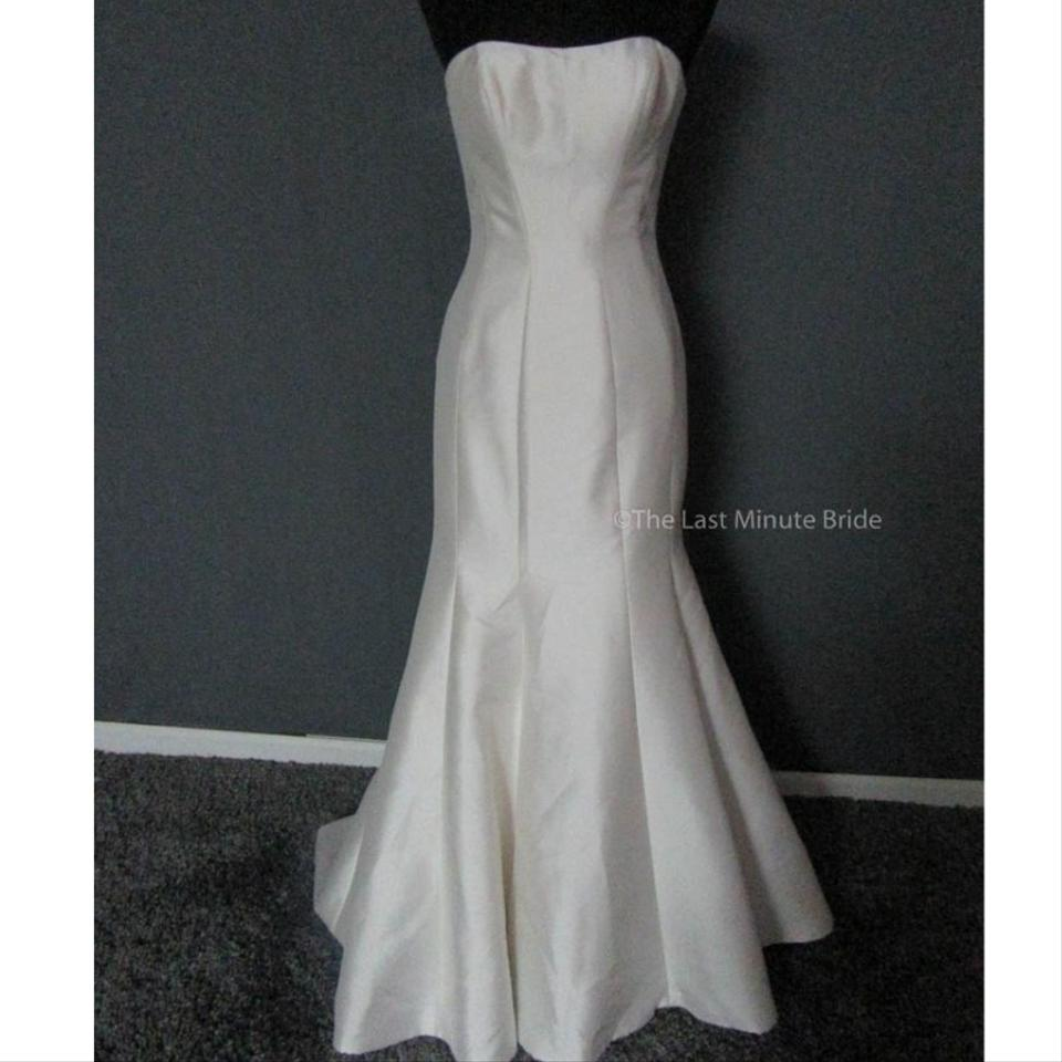 Maggie Sottero Ivory Mikado Dante By Traditional Wedding Dress Street Size 14: Size 14 Wedding Dresses At Reisefeber.org
