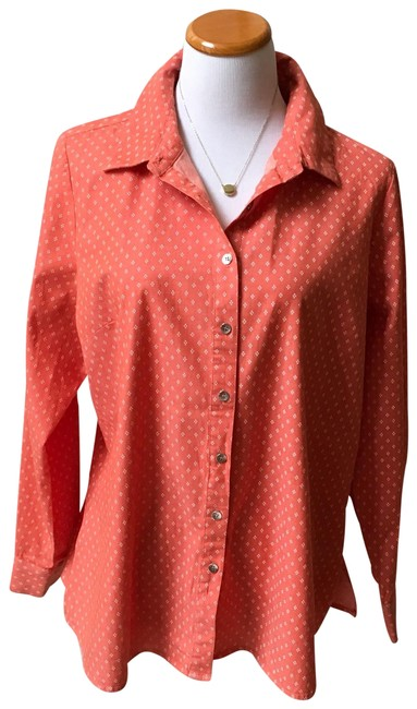 Preload https://img-static.tradesy.com/item/24707083/denim-and-co-coral-stretch-printed-long-sleeves-shirt-button-down-top-size-12-l-0-1-650-650.jpg