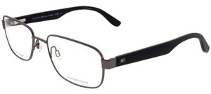 Tommy Hilfiger TH1489-KJ1-55 Square Men's Grey Frame Clear Lens Eyeglasses NWT