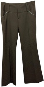 Alice + Olivia Alice+olivia Straight Pants Dark Brown